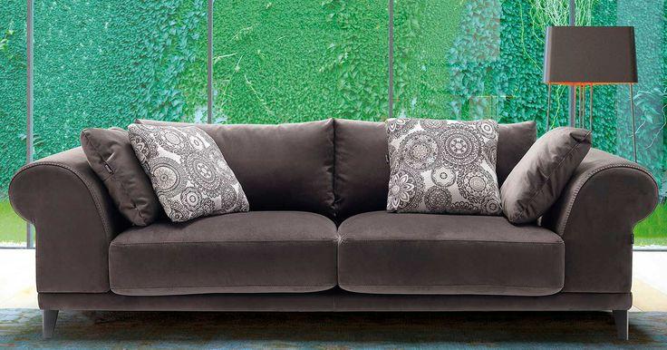 Sofá moderno de 3+2 plazas y sillón, modelo Chester fabricado por Divani Star en Sofassinfin.es