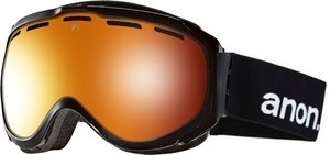 Anon Hawkeye Black Red Solex Mens Burton Ski Snowboard Goggles