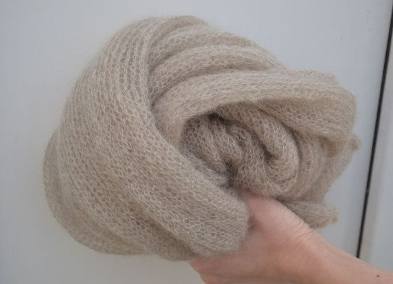 Beige scarf knit mohair infinity scarf knitted beige circle scarf mohair shawl knit Cowl scarf beige nude scarves knitted mohair scarf tube  You can