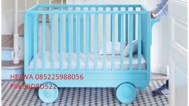 Box Bayi Roda Dorong Minimalis Terbaru atau Box Bayi Minimalis Warna Blue ini produk unggulan dan produk terbaru dari furniture jepara