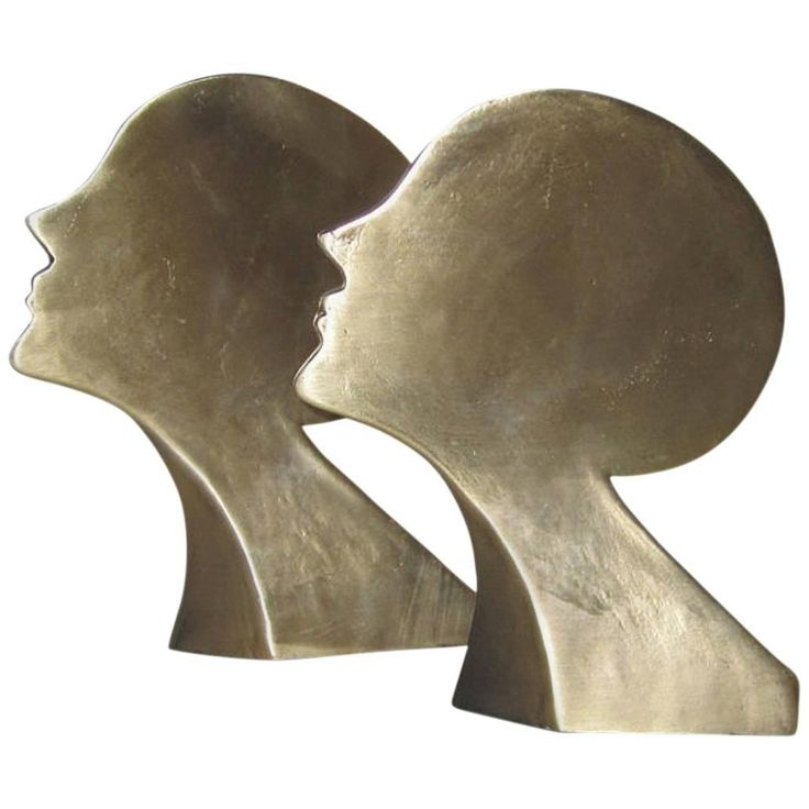 Pair of Midcentury Brass Bookends | From a unique collection of antique and modern desk accessories at https://www.1stdibs.com/furniture/decorative-objects/desk-accessories/