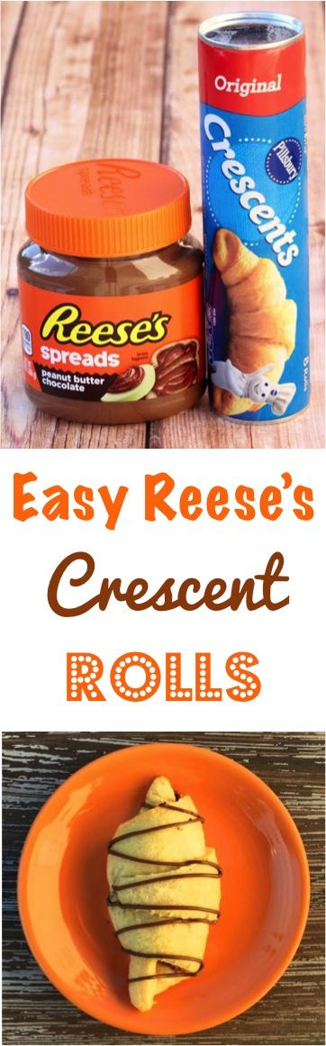 Chocolate Crescent Roll Recipes! You'll love this Easy Reese's Dessert with the yummy flavors of Reese's Peanut Butter Spread wrapped up in warm flaky crescent rolls!