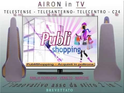 Airon, l'asse da stiro che mancava, in TV www.angyshop.com PUBLISHOPPING TV -Emilia Romagna -Veneto - Marche Telesanterno-Telestense-Telecentro-Canale 24 Gli acquisti di qualità, comodi da casa, dalla tua poltrona.