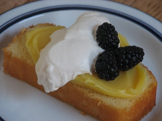 Lemon Curd & fresh whipped cream & berries -- recipe from the Barefoo...
