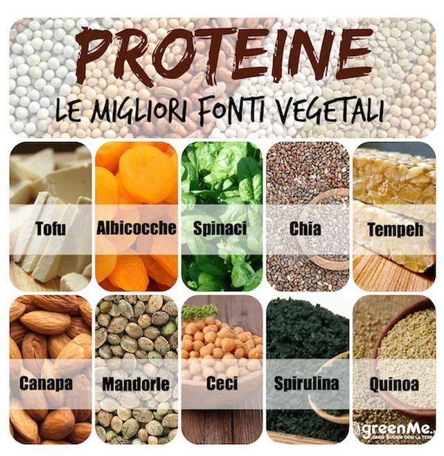 proteine vegetali healthy mangiare sano salute vegetarian vegan