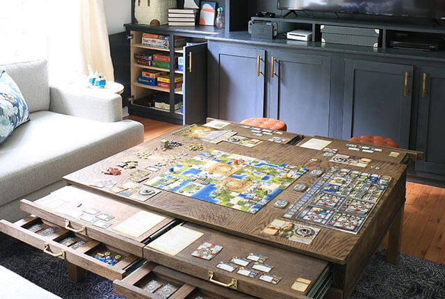 Diy Coffee Table With Pullouts Game Room Family Game Room Tables Board Game Room