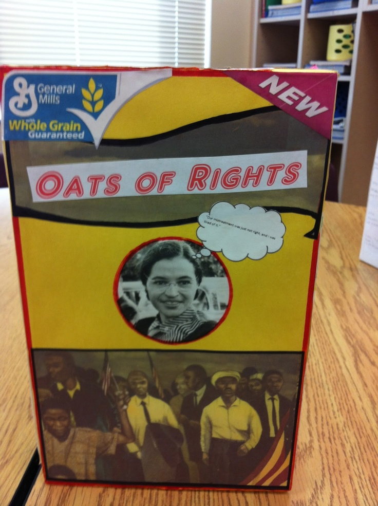 Cereal boxes biography and fourth grade on pinterest