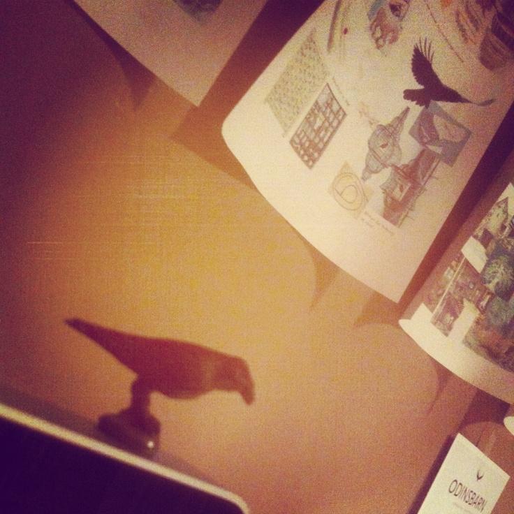 My desktop lucky charm :) #writing #ravens #corvus #ravneringene #fantasy #office