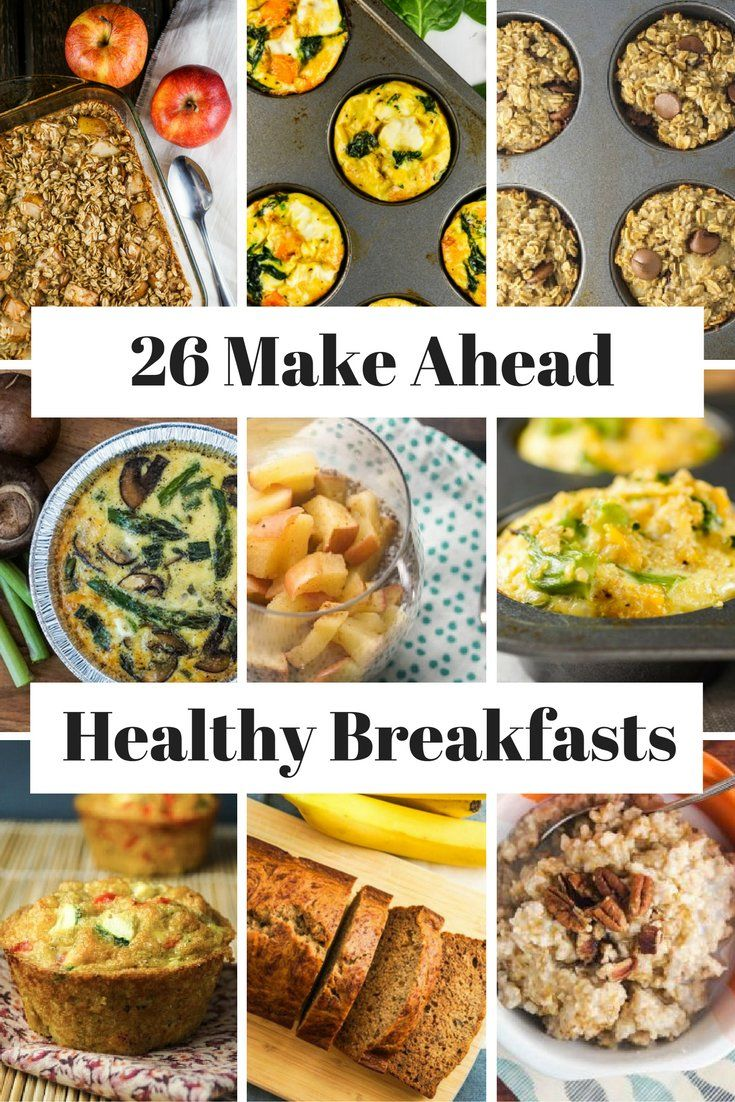 26 healthy make ahead breakfasts for busy mornings | pinterest