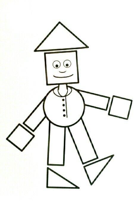Картинка дровосека из геометрических фигур первые