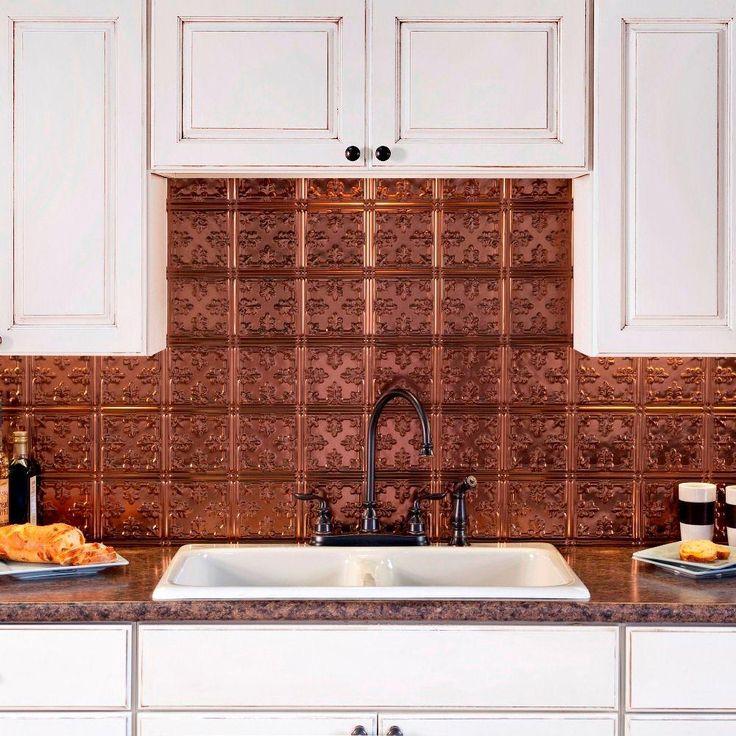 traditional 10 pvc decorative backsplash panel in oil rubbed bronze