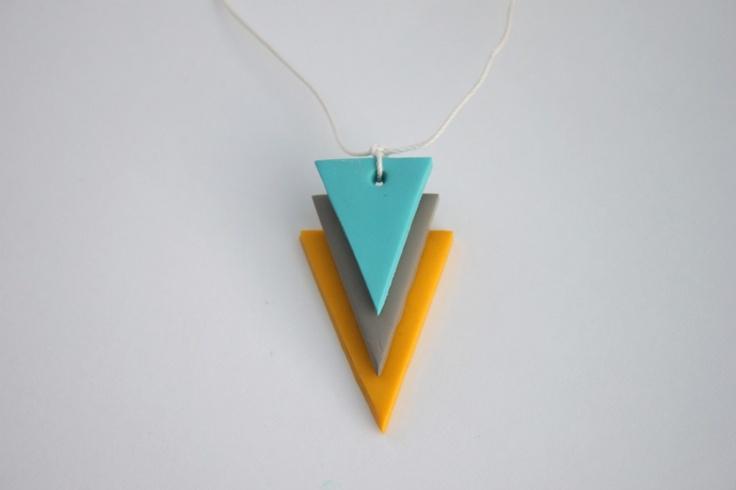 DIY : Collier géométrique en Fimo / Geometric necklace pendant