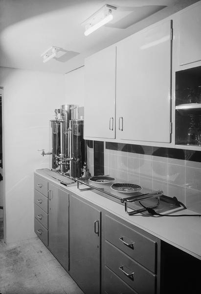 CouncilofIndustrialDesign,FESTIVALOFBRITAIN,..1951 DescriptionFESTIVAL OF BRITAIN, 1951. SOUTH BANK EXHIBITION. Homes and Gardens Pavilion. Kitchen display..
