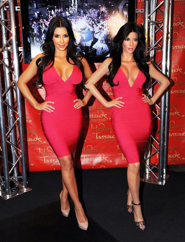 Pin for Later: Celebrities Come Face to Face With Their Wax Figures! Kim Kardashian