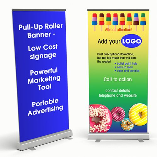 Design A Pull-up Roller Banner To Get You Noticed   - How To Design A Pull-up Roller Banner   Whether it is for an exhibition, a point of sale or just a networking meeting, you need to design a pull-up roller banner that will get you noticed. This is probably one of the largest pieces of advertising you own or create unless of course you want a few bill boards...