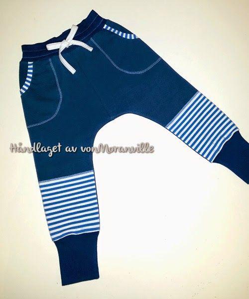 """""""Relaxed Fit"""" bukse fra Ottobre. Myk isoli fra www.uglemor.com, stripene er fra Lillestoff / A """"Relaxed Fit"""" pants pattern from Ottobre. Sweat from www.uglemor.com, stripes from Lillestoff"""