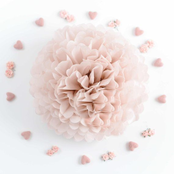 Blush Paper Pom Poms Set Wedding Decorations Party Bridal Shower Birthday Decorations Birthday Blush Bridal Decorations P Altrosa Hochzeit Hochzeitsdekoration Und Rosa Papier