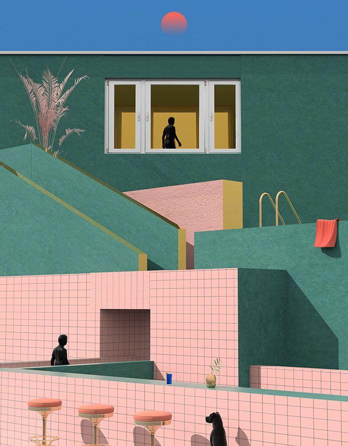 Illustrator Tishk Barzanji, Anxiety Nutrition.