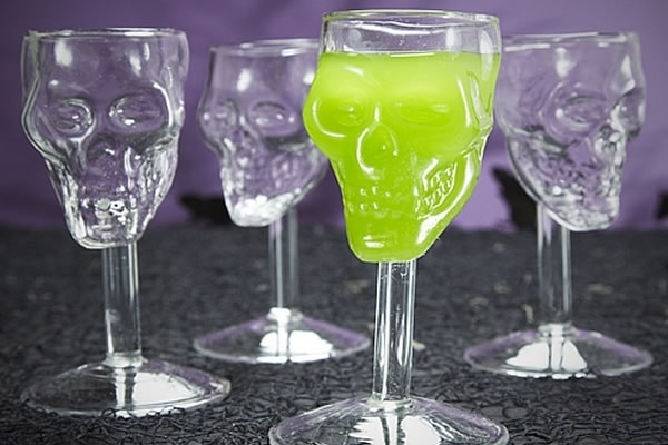 Shocktails - Set of 4 Skull Shot Glasses