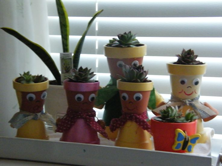 Mini pot people planters clay pot crafts pinterest for Small terracotta pots crafts