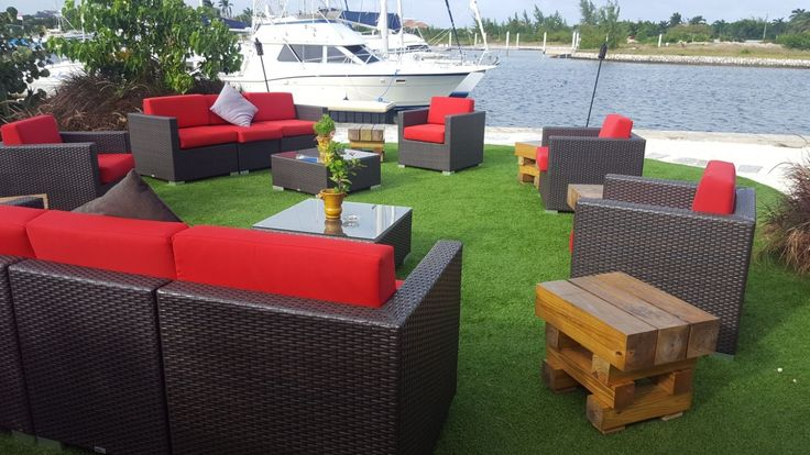 #BFM #seating Aruba sectional in the Cayman islands - the yacht is a nice backdrop. #wherespacedefinesdesign