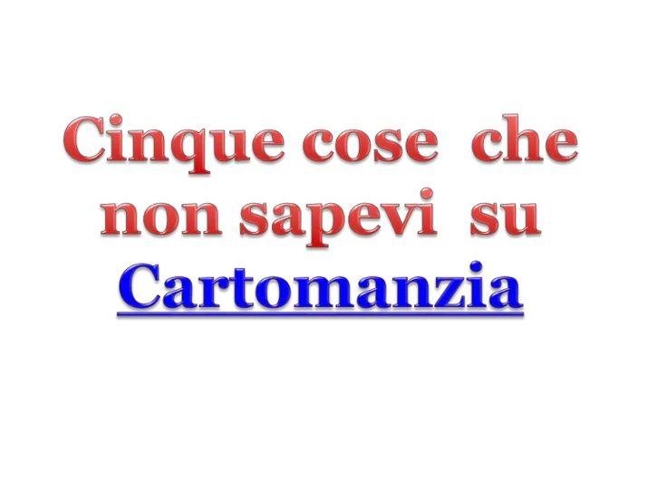si prega di guardare la #presentazione su Cinque cose  che non sapevi  su #Cartomanzia. Per più, per favore visita http://www.cartomanziaconsulti.it