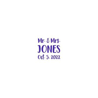 Royal Blue Mr. and Mrs. Jones