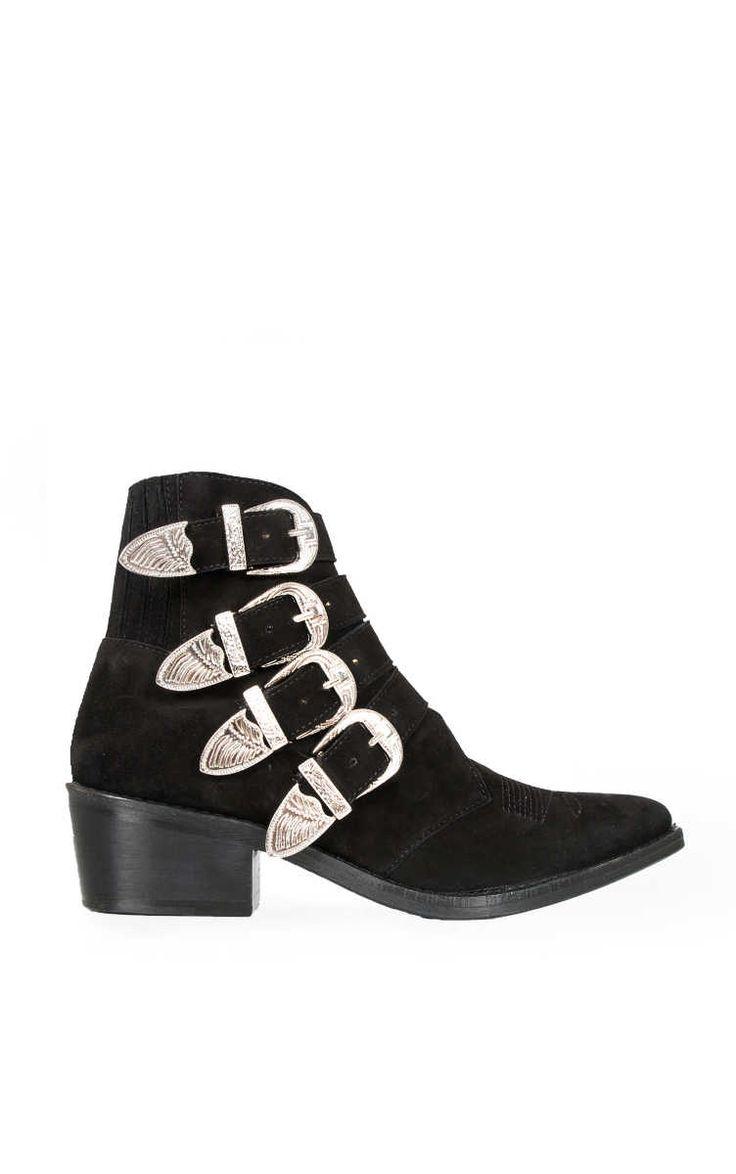Boots Suede BLACK - Toga - Designers - Raglady