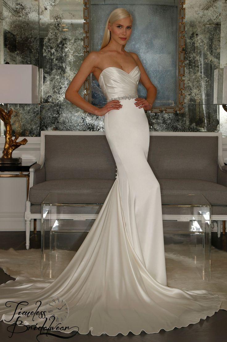 Romona Keveza  Size 10 & under Was €8,000  Now Only €2,000 From Browns of London, this pure silk strapless gown is now on our rails at a huge reduction.  www.timelessbridalwear.ie