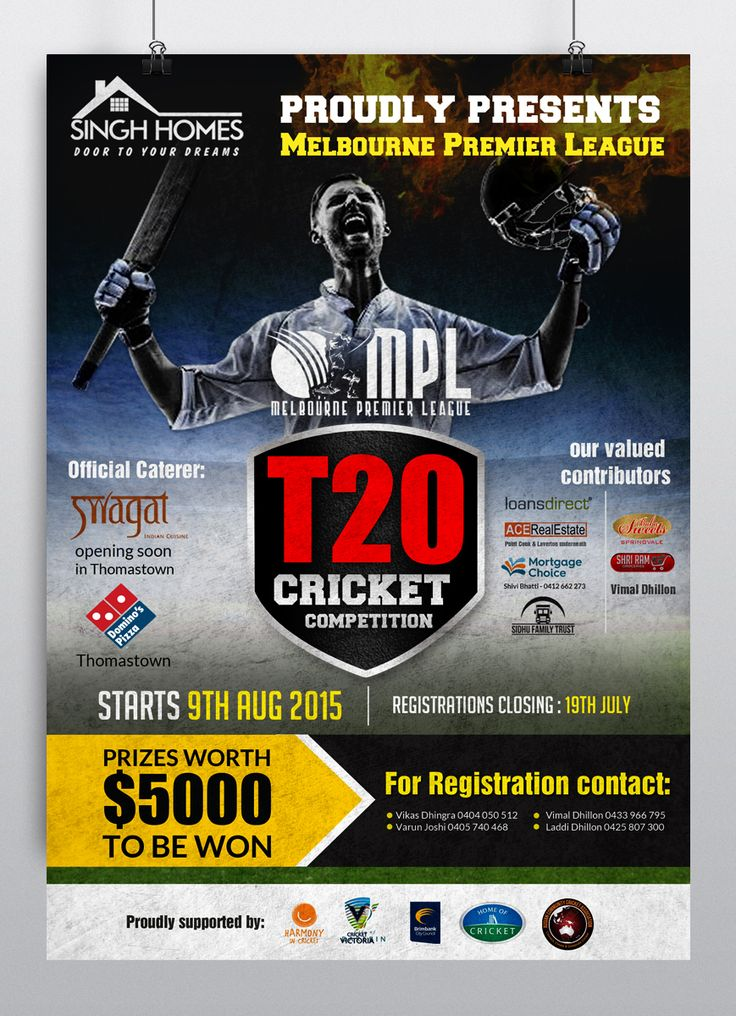 Poster Design by hih7 for Ausian Community Cricket Association #cricket #Poster #design #DesignCrowd #sport