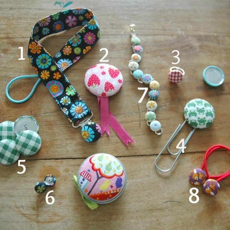 MOOIMAM - gek op kleuren, vormen, dessins en mooie materialen.: Zelf maken: Stofknopen