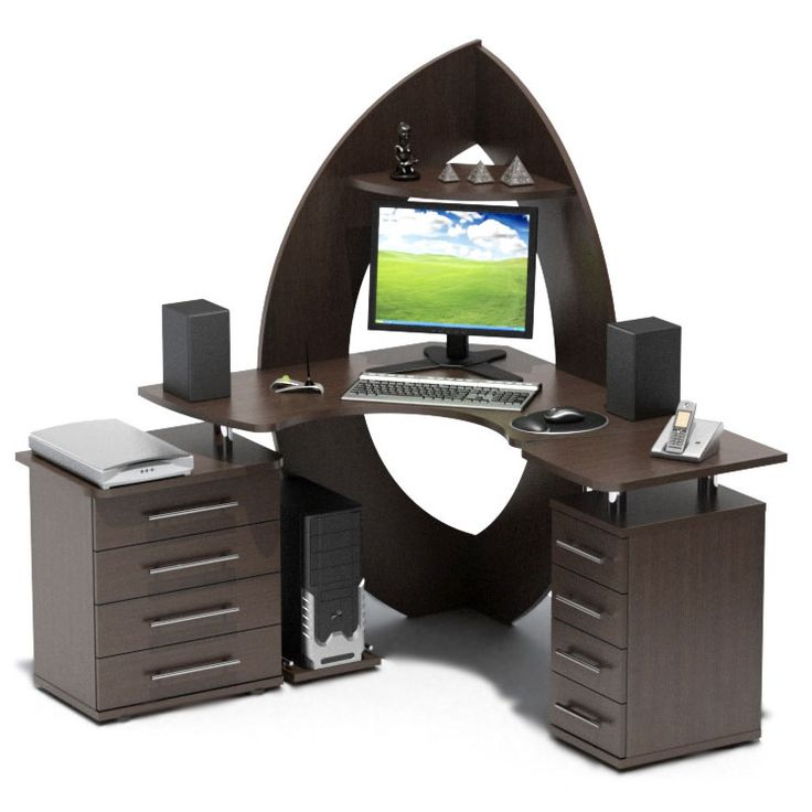 Стол угловой компьютерный Сокол КСТ-101+КТ-101+KT-102Л