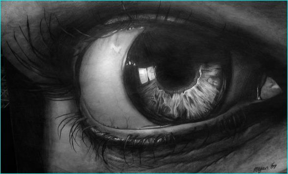 23 Pencil Sketch of Beautiful Human Eyes