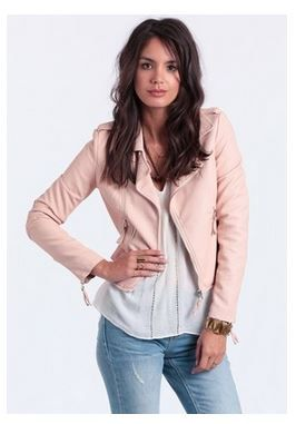 1000  images about how to wear light pink leather jacket on