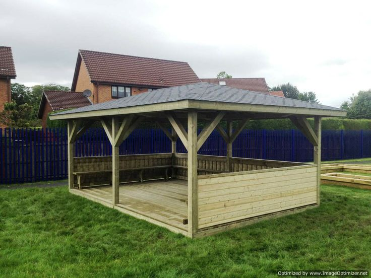 A Simple 4m X 6m Shelter With Fixed Benching And
