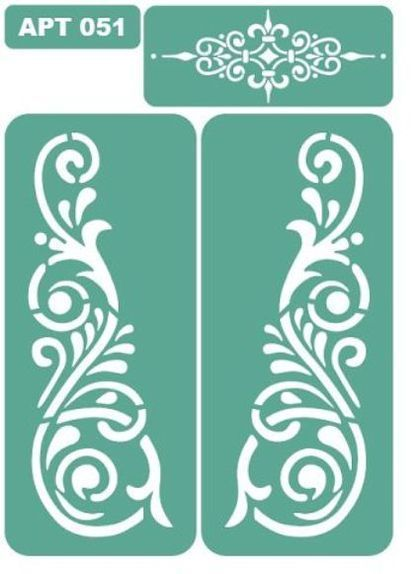 трафарет 051 - зелёный,трафарет,трафареты,Декупаж,материалы для творчества