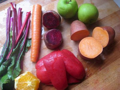 Sunset blend Juice recipe... Have not thought of juicing sweet potato!