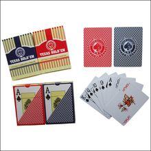 Alta calidad Personalizada club de poker plástico naipes casino juego de cartas