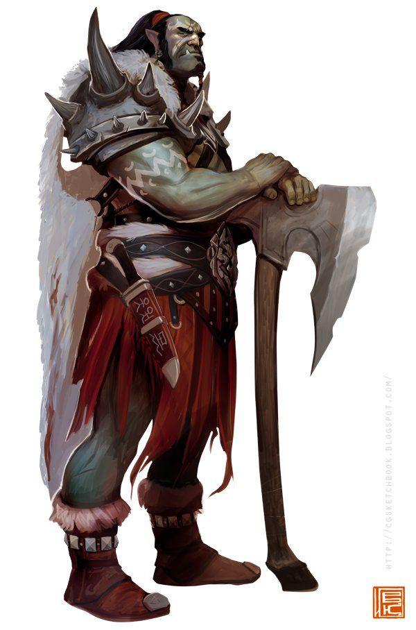 orc warrior, Ilya Komarov on ArtStation at https://www.artstation.com/artwork/orc-warrior-0bcef0ad-c9f4-408e-a63f-2f90e2fb86a7