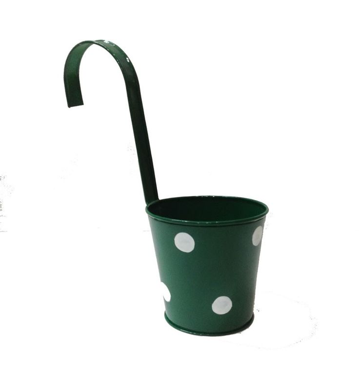 This charming planter comes in various attractive colours. The Polka dots make it even more beautiful.  This Hanging Planter with Polka Dots is highly accredited in home, gardens, restuarants, etc for enhancing the beuaty of the interiors.  The hole provided at the bottom allow you to directly place plants in the planter. Make your balcony railings look more beautiful with this planter. Visit www.tnzcreations.com for more products!