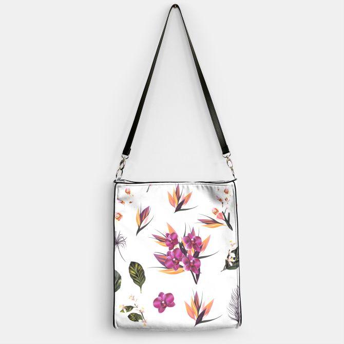 Designers handbag with Asia flowers