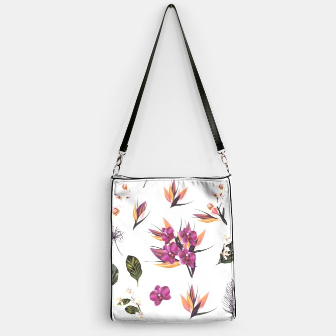 Designers handbag with Asia flowers