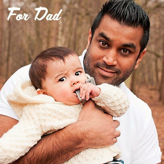 Dads can wear teething jewellery too  - our Dad tags (dog tags) are perfect for dad & baby