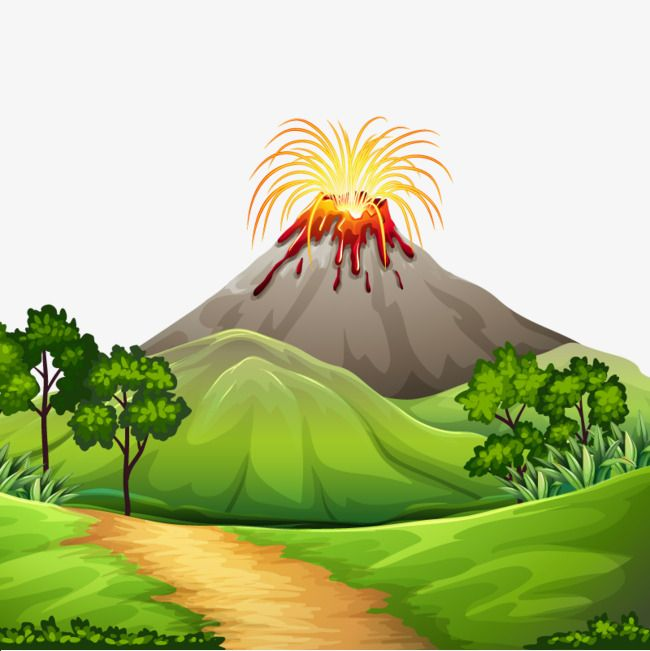 Vector Volcano Eruption Volcano Clipart Mountain Lane Png Transparent Clipart Image And Psd File For Free Download Iphone Wallpaper Landscape Volcano Clipart Volcano