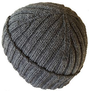 """Two by Two by Anne G.  Because of the ribbing, the hat will fit a size 21/22"""" head and stretch to a 23/24"""" head with changes to the length before crown."""