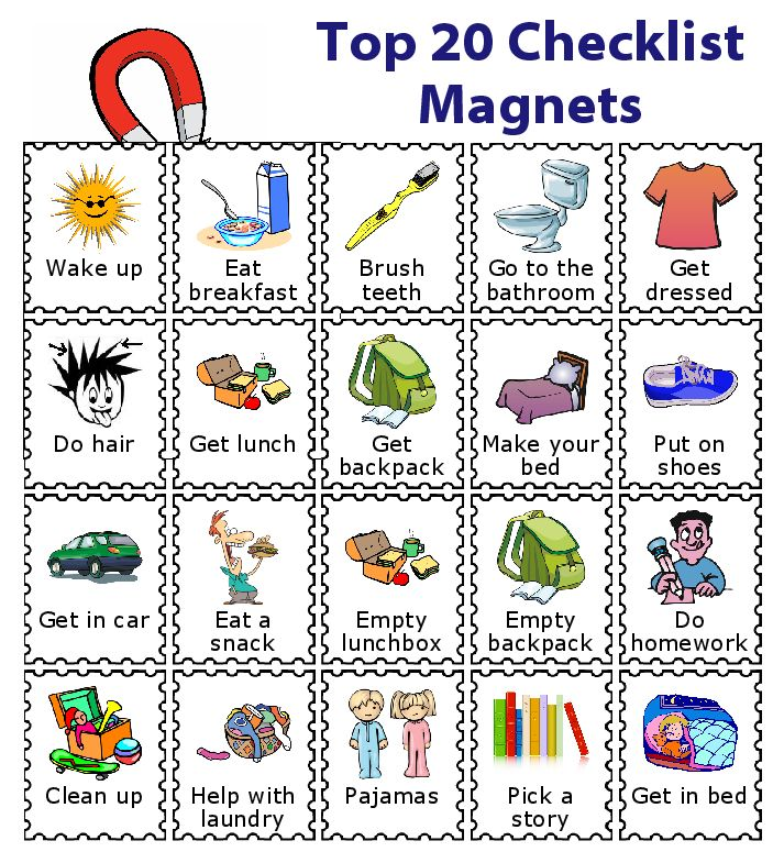 Make A Magnetic Checklist For Your Kids Kids Corner