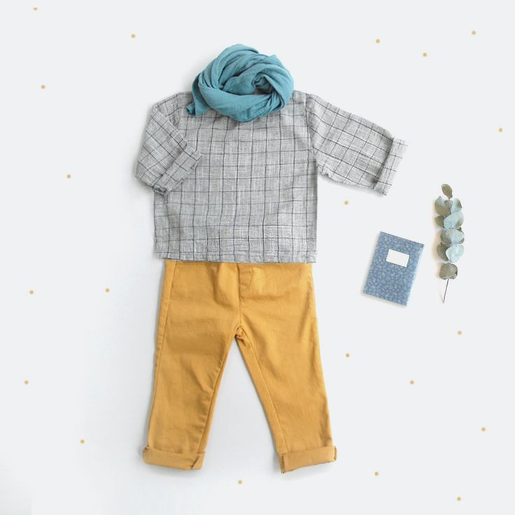 Comfy and stylish look for little babes with our new pleated top and mustard pants
