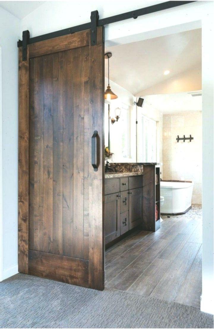 Awesome And Inspiring Sliding Barn Door Ideas For Your Home In 2020 Bedroom Door Decorations Door Design Bathroom Remodel Master