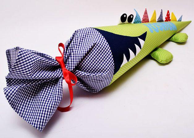 Schultüten - Schultüte freches Krokodil - ein Designerstück von josefines-kinder bei DaWanda