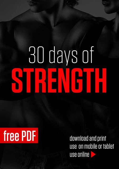 Page 1 of 32 30 Days of Strength is a strength oriented program designed to increase strength, improve performance and stamina. It is based on bodyweight resistance training and includes HIIT and ab routines to help with definition. Bodyweight...